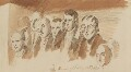 Group of eight unknown figures for the right niche, by Sir George Hayter - NPG 1695(x)