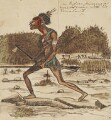An Indian pursuing a wounded enemy with his Tomahawk, by George Townshend, 4th Viscount and 1st Marquess Townshend - NPG 4855(68)