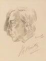J.B. Priestley, by Jacob Kramer - NPG 6461