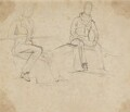 John Cust, 1st Earl Brownlow; Charles Gordon-Lennox, 5th Duke of Richmond and Lennox, by Sir George Hayter - NPG 2662(24)