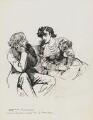 Algernon Charles Swinburne; Adah Isaacs Menken, by Harry Furniss - NPG 6251(60)