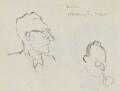 Arthur Deakin; Sir Stafford Cripps, by Sir David Low - NPG 4529(114a)