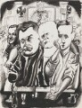 The Critics, by Edward John Burra - NPG 6370