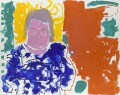 A.S. Byatt (Portrait of A S Byatt : Red, Yellow, Green and Blue : 24 September 1997), by Patrick Heron - NPG 6414