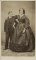 Bernard Lockyer; Emma Maria Lockyer (née Morant), by John Damerell Symons - NPG Ax16435
