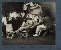 'Eddy, Siegfired, Pung riding on Phil', by Lady Ottoline Morrell - NPG Ax142584