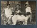 Hon. Robert Gathorne-Hardy; Kyrle Leng; Julian Vinogradoff (née Morrell), by Lady Ottoline Morrell - NPG Ax142609