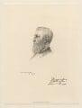 Spencer Compton Cavendish, 8th Duke of Devonshire, by Henry Dixon & Son, after  Alphonse Legros - NPG D20765