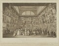 Portraits of their Majesty's & the Royal Family Viewing the Exhibition of the Royal Academy 1789, by Pietro Antonio Martini, after  Johann Heinrich Ramberg - NPG D21303