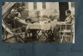 Leopold Hamilton Myers; James Stephens; Siegfried Loraine Sassoon, by Lady Ottoline Morrell - NPG Ax142994