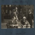 Arthur David Waley; Lytton Strachey; (Helen) Hope Mirrlees; Georges Cattaui, by Lady Ottoline Morrell - NPG Ax143313