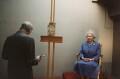 Lucian Freud; Queen Elizabeth II, by David Dawson - NPG x128062