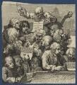 A Chorus of Singers, by William Hogarth - NPG D21375
