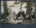 Mark Gertler; Samuel Solomonovich ('Kot') Koteliansky; Philip Edward Morrell, by Lady Ottoline Morrell - NPG Ax143422