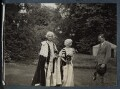 Lord David Cecil; Rachel (née MacCarthy), Lady Cecil; Siegfried Loraine Sassoon, by Lady Ottoline Morrell - NPG Ax143585