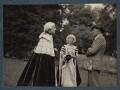 Lord David Cecil; Rachel (née MacCarthy), Lady Cecil; Siegfried Loraine Sassoon, by Lady Ottoline Morrell - NPG Ax143586