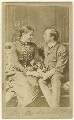 Madge Kendal as Dora; William Hunter Kendal (William Hunter Grimston) as Captain Beauclerc in 'Diplomacy', by Window & Grove - NPG Ax25048