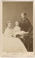 Queen Alexandra; Prince Albert Victor, Duke of Clarence and Avondale; King Edward VII, by Hills & Saunders - NPG Ax24161