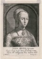 Lady Jane Grey, by Magdalena de Passe, by  Willem de Passe, published by  Frans van den Wyngaerde (Wijngaerde), after  Hans Holbein the Younger - NPG D21393