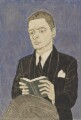 T.S. Eliot, by Powys Evans - NPG 6762