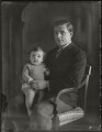 10th Duke of Manchester with his son, by Bassano Ltd - NPG x124871