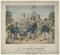 Mr Gifford; Paul John Bedford; Mr S. Jones as Neapolitan Fishermen in 'Masaniello', by John William Gear - NPG D21562