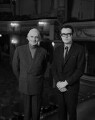 Sir Donald Arthur Rolleston Albery; Ian Bronson Albery, by Rex Coleman, for  Baron Studios - NPG x128263