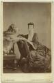 Fanny Octavia Louisa (née Spencer-Churchill), Lady Tweedmouth with her golden retriever Crocus, by A.J. (Arthur James) Melhuish - NPG x128444