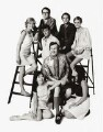 'In' Group (Susannah York; Miranda Chiu; Peter S. Cook; Joe Orton; Michael Fish; Sir Tom Courtenay; Lucy Fleming; Twiggy, by Thomas Patrick John Anson, 5th Earl of Lichfield - NPG x128490