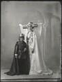 Hon. Henry Anthony Feilding as Henry VII; Agnes Imelda Mary Feilding (née Harding), Viscountess Feilding as Queen Katherine, by Bassano Ltd - NPG x150271