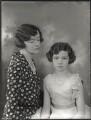 Antoniette Brett (née Heckscher), Viscountess Esher; Priscilla Leónie Helen (née Brett), Lady Beckett, by Bassano Ltd - NPG x150274
