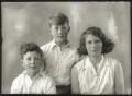 Anthony Durant Gibbs, 5th Baron Aldenham; Hon. Vicary Paul Gibbs; (Mary) Theresa Hyde (née Villiers), Lady Wilkinson, by Bassano Ltd - NPG x150604