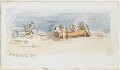 Study of figures and boat on the beach, by Louisa Anne Beresford (née Stuart), Marchioness of Waterford - NPG D23146(8)