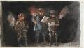 Three unknown children, probably carolers, by Louisa Anne Beresford - NPG D23146(28)