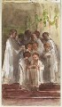 Choir singing on Christmas Day, by Louisa Anne Beresford (née Stuart), Marchioness of Waterford - NPG D23146(29)