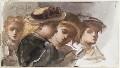 Four unknown children, by Louisa Anne Beresford - NPG D23146(34)