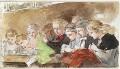 Nine unknown children, by Louisa Anne Beresford - NPG D23146(40)