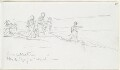 'A Recollection'; Sketch of figures in landscape, by Louisa Anne Beresford (née Stuart), Marchioness of Waterford - NPG D23146(65)
