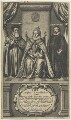 Queen Elizabeth I; William Cecil, 1st Baron Burghley; Sir Francis Walsingham, by William Faithorne - NPG D22722