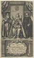 Queen Elizabeth I; William Cecil, 1st Baron Burghley; Sir Francis Walsingham, by William Faithorne - NPG D22722