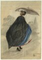 Unknown woman with umbrella, by George Estall - NPG D23157