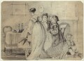Four unknown sitters, by George Estall - NPG D23159