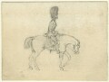 Guardsman on a horse, by George Estall - NPG D23163