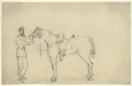 Unknown cavalryman and horse, by George Estall - NPG D23165
