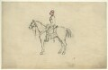Unknown cavalryman on horseback, by George Estall - NPG D23168
