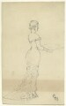 Figure study of an unknown woman, by George Estall - NPG D23169