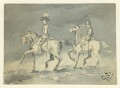 Two unknown soldiers on horseback, by George Estall - NPG D23206
