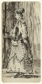 Figure study of an unknown woman, by George Estall - NPG D23211