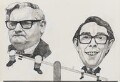 Ronnie Barker; Ronnie Corbett ('The Two Ronnies'), by Barry Ernest Fantoni - NPG 6774
