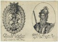 Title for 'Effigies Regum Anglorum a Wilhelmo Conquestore'; fictitious portrait called King William I ('The Conqueror'), probably by William Faithorne, published by  Sir Robert Peake - NPG D22799